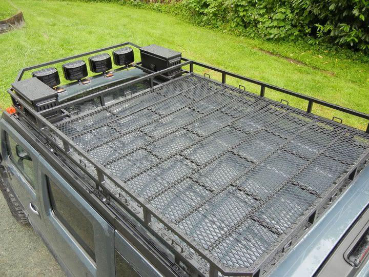 Custom H2 roof rack build