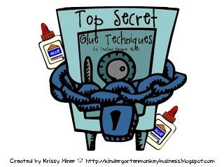 Mrs. Miner's Kindergarten Monkey Business: Top Secret Glue Procedures FREEBIE