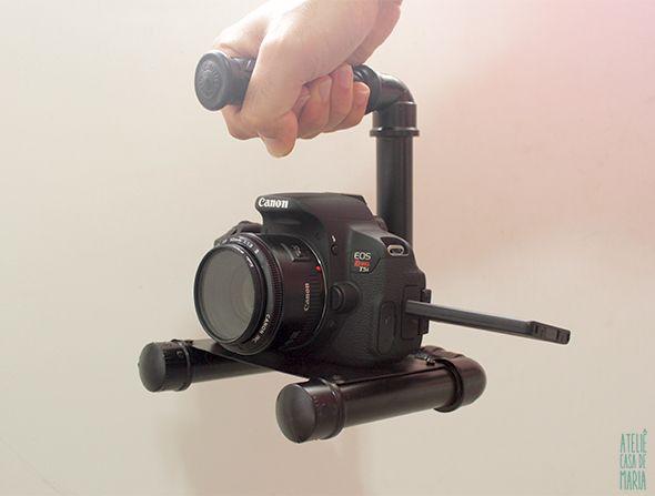 Como fazer um suporte para câmera fotográfica com cano de Pvc