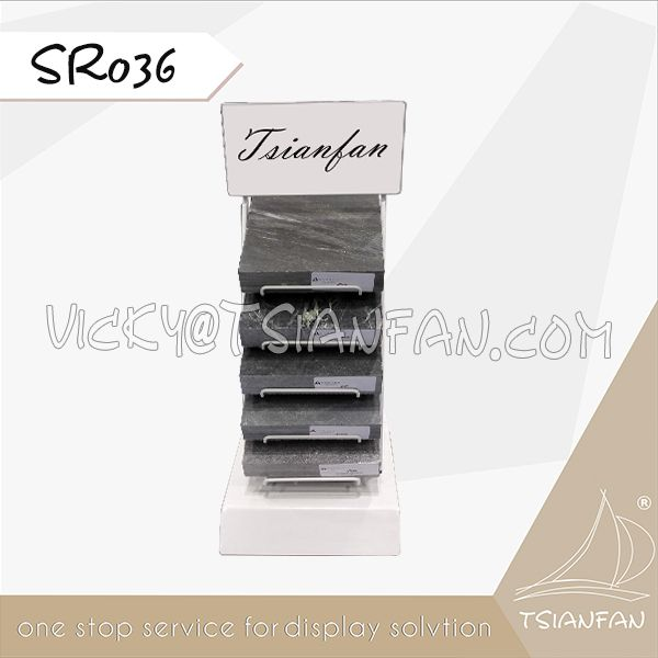 SR036-1--Marble Stone Display Stand Tower