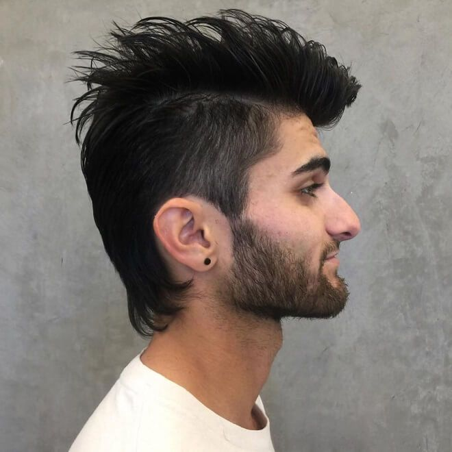 Mohawk Fade With Long Straight Hair Mohawk Hairstyles Mohawk Hairstyles Men Short Hair Mohawk