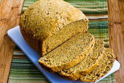 Kalyn's Kitchen®: Bread Machine Recipe for 100% Whole Wheat Bread with Oats, Bran, and Flax Seed