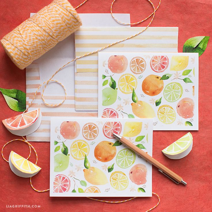 #Watercolor printable notcards at www.LiaGriffith.com: