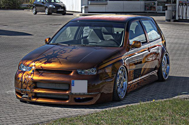 2001 volkswagen golf gti vw golf iv 1 8 turbo gti airbrush tuning car hdr flickr photo. Black Bedroom Furniture Sets. Home Design Ideas