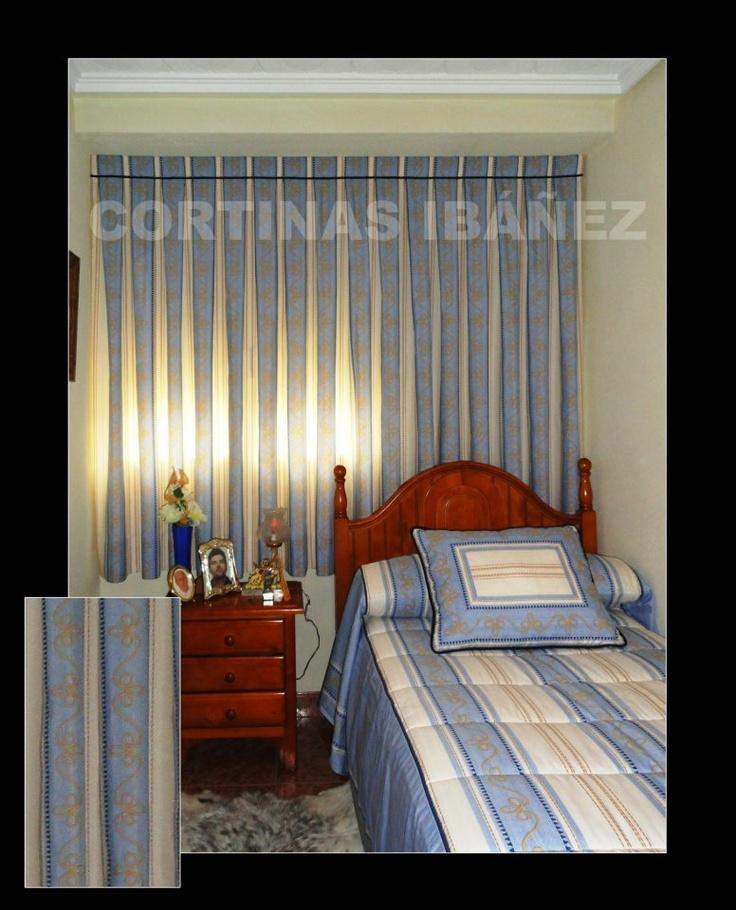 Cortina tradicional en tela de reig marti estampada confeccionada manual a tablas para hacer - Reig marti cortinas ...