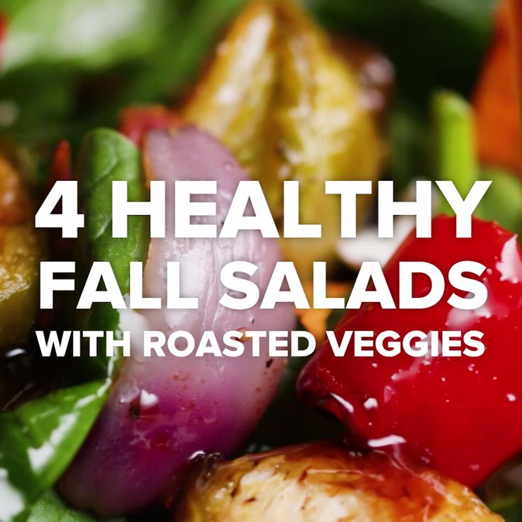 4 Healthy Fall Salads With Roasted Veggies