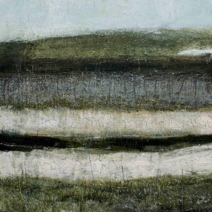 Lewis Noble(British, b.1967) Moorland Path 2009 Oil on canvas #art #paintings #neutrals