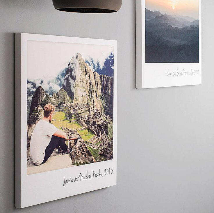 personalised giant polaroid canvas print by the drifting bear co. | notonthehighstreet.com