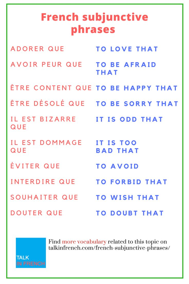 Are you curious about making some phrases by using French subjunctive? If yes, learn here and download the list in PDF format for free.https://www.talkinfrench.com/french-subjunctive-phrases/