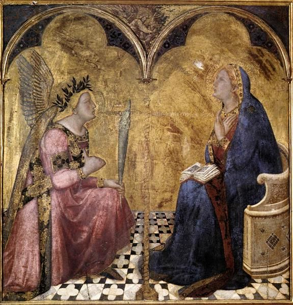 Annunciation, 1344 - Ambrogio Lorenzetti