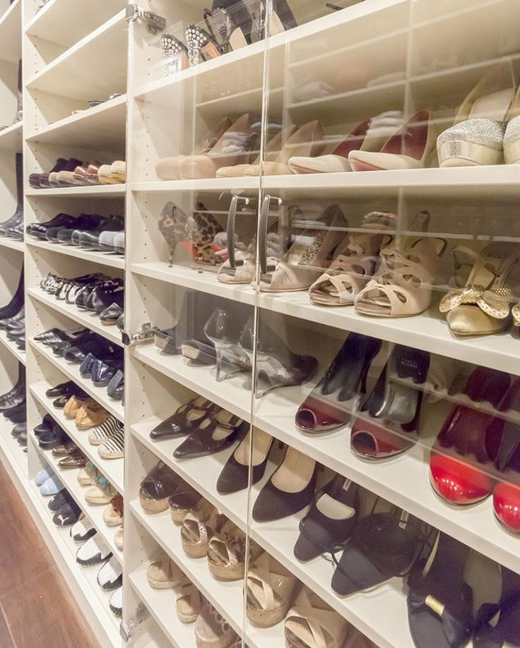 Be Able To Look At Your Shoes AND Keep Them Safe With Lucite Doors. Closet