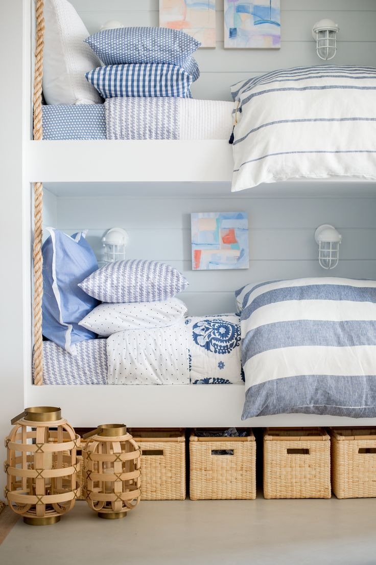 Seeing double the most darling bunk bed set courtesy of for Serena and lily baby girl bedding