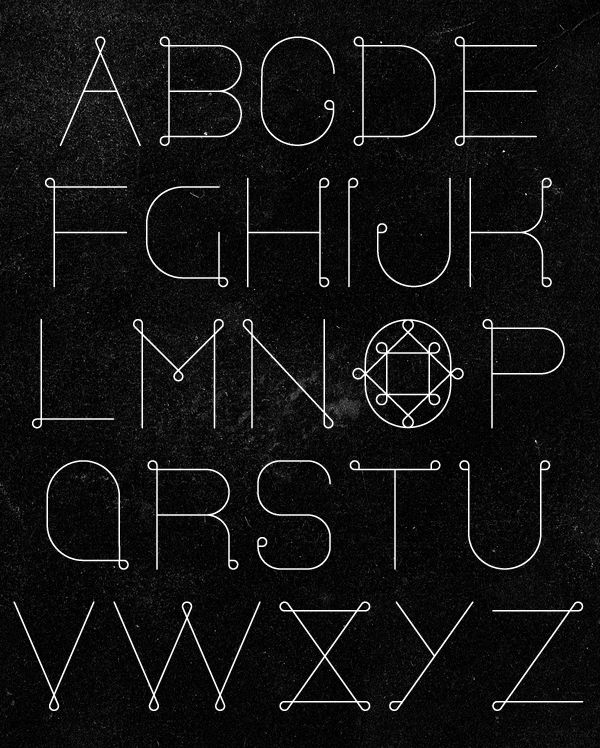 In The Loop Font by Patrick Seymour, via Behance