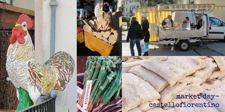 saturday market castellofiorentino, tuscany
