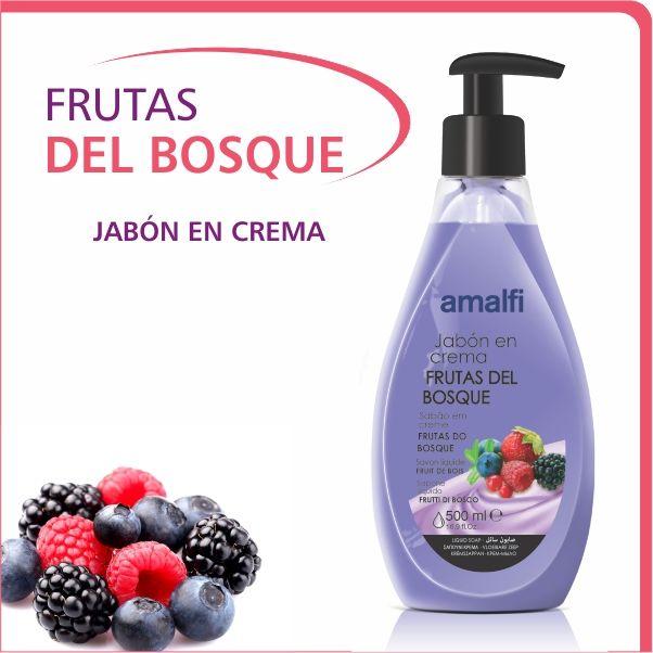 Jabón cremoso. Su envase dosificador permite que el jabón sea aplicado de manera higiénica y cómoda.
