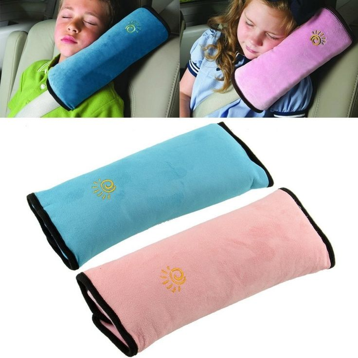 Baby Child Kid Car Seat Belt Strap Shoulder Sleeping Pad Cover Pillow Cushion Neck Head Support