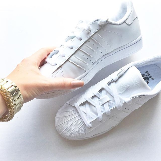 Adidas Shoes: all white Superstars @bekahmolony