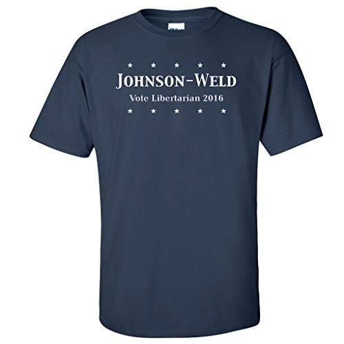 Johnson-Weld Vote Libertarian 2016 Navy T-shirt