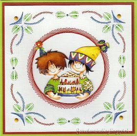 Josee's Kaartenblog: Een verjaardagskaart en een paar kerstkaarten