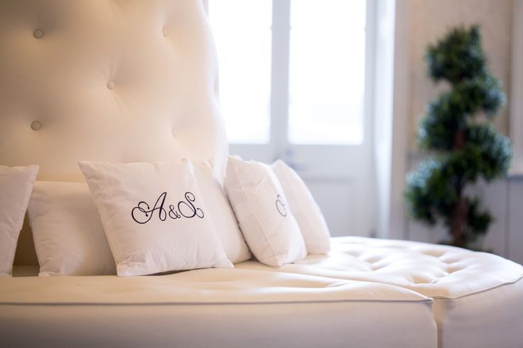 A touch of personalisation... custom logo & pillows by @thepersonaltouch