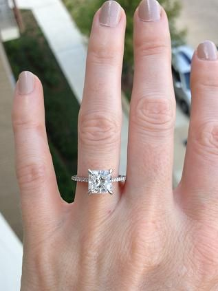 4.5 finger size with a 2 carat diamond #LoveShackVacations. Radiant Cut Engagement  RingsGold ...