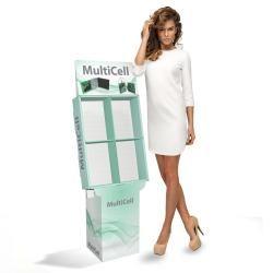 MultiCell  Espositore a celle per prodotti da esporre frontalmente come libri, cd e confezioni.