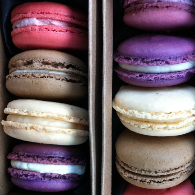 Delicious macarons. Birthday treat. From bakery Asalt & Buttery in Little Falls, NJ.