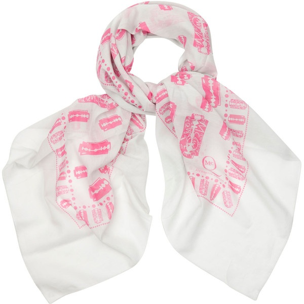 MCQ Alexander McQueen Printed Cotton Blend Scarf ($84) ❤ liked on Polyvore