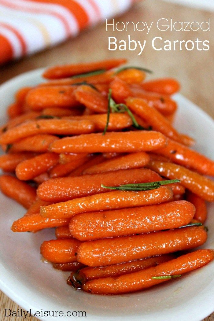 Honey Glazed Baby Carrots Recipe. The perfect vegetarian side to any dinner.