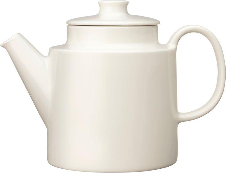 Iittala - Teema Teapot with lid 1,0 l white - Iittala.com