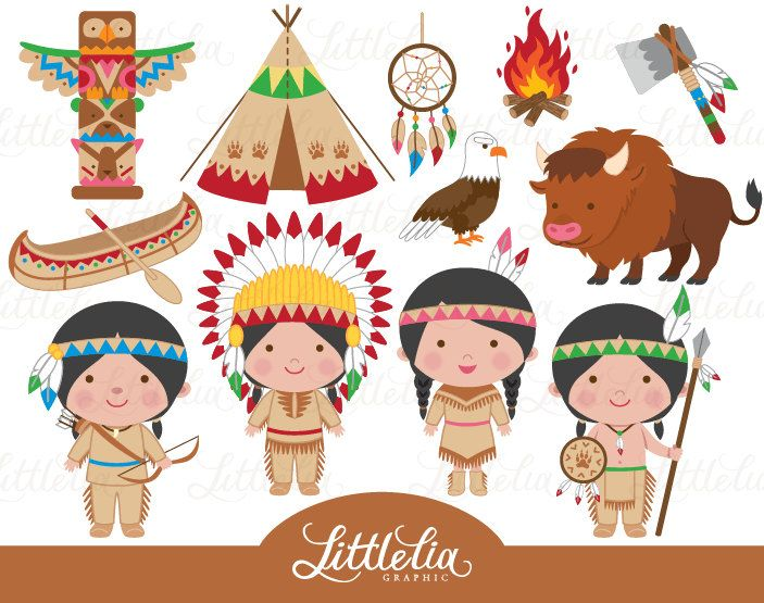 Indische Clipart native America Clipart von LittleLiaGraphic