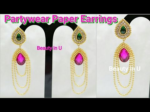 How to make Paper/Silk Thread Bridal Step Chain at Home   Tutorial - YouTube