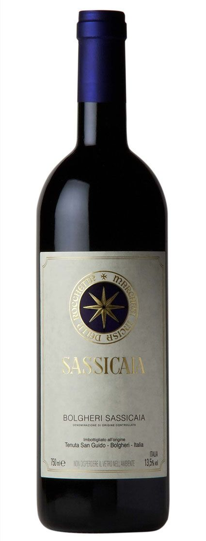 """Tenuta San Guido's """"Sassicaia 2009"""" Grape Variety: 85% Cabernet Sauvignon & 15% Cabernet Franc.  Intense & deep ruby red colour.  Great complexity & harmony on the nose.  Strong & thick taste, with soft & balanced tannins.  An Italian masterpiece!"""