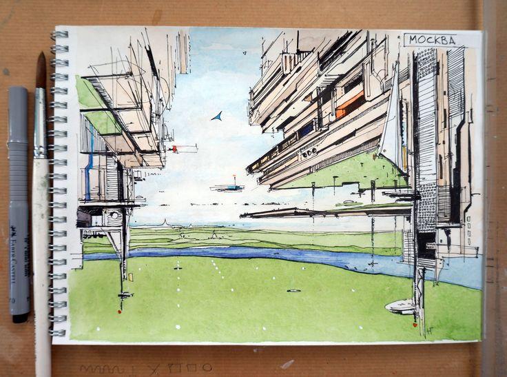 Ознакомьтесь с моим проектом @Behance: «Мысли об архитектуре будущего. Эскизы.» https://www.behance.net/gallery/37948497/mysli-ob-arhitekture-buduschego-eskizy