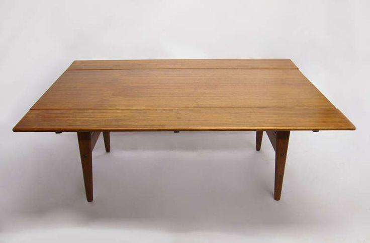 Teak table adjustable height by kai kristiansen for trioh for Nec table 373 6