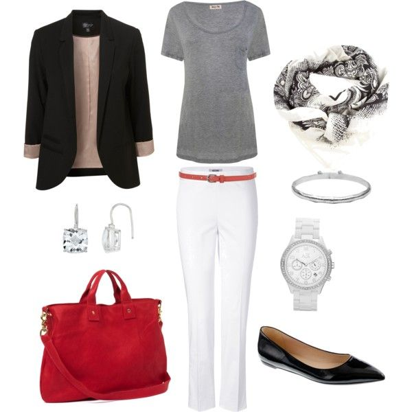 Love the classic look of this!  Carven Scarf, created by bluehydrangea.polyvore.com