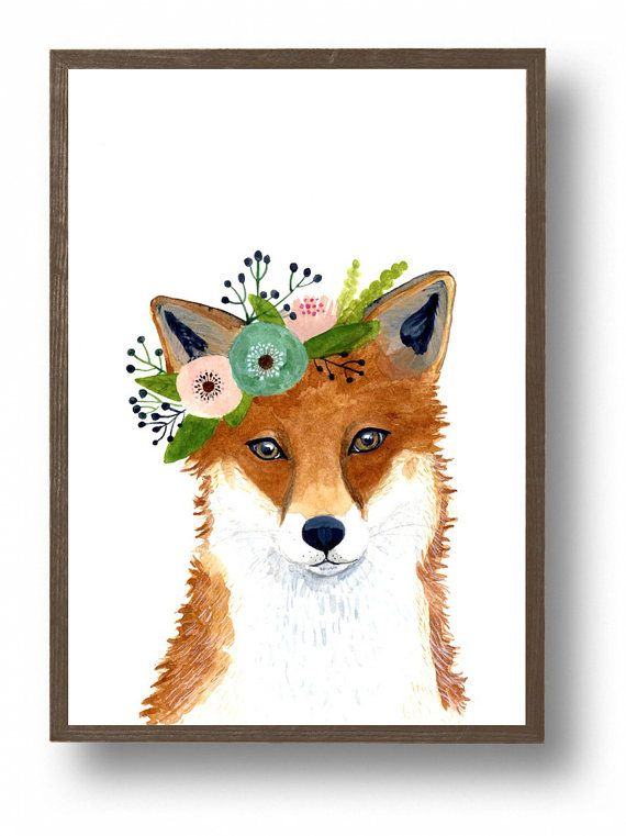 Forest friends no:1 Red fox  Original watercolor art 2015 8x10 inch original watercolor. This painting was done on Fabriano cold press watercolor paper. . Thanks for looking!  Zuhal  Print: https://www.etsy.com/listing/249696367/watercolor-fox-woodland-nursery-art?ref=shop_home_active_8  if you want a set, it has forest friends!  https://www.etsy.com/listing/249641060/woodland-nursery-art-set-of-prints?ref=related-2…