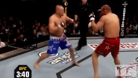 How Chuck Liddel Knocked Out Randy Couture Backpedalling [Article] http://www.modernmartialartist.com/technique-breakdown/chuck-liddells-knockout-power/