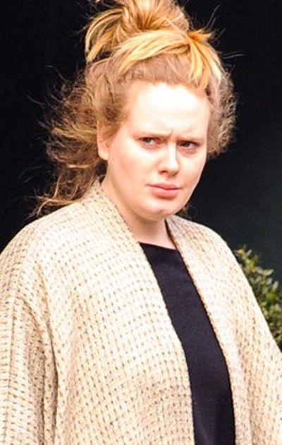 Adele Without Makeup. I want to be her buddy.