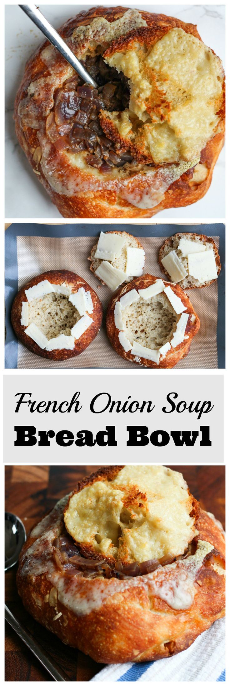 French Onion Soup in a Bread Bowl!