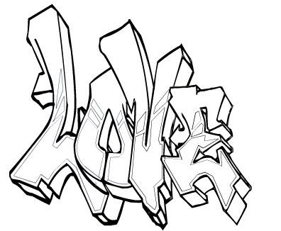 Julien tag Coloriage Graffiti names Pinterest
