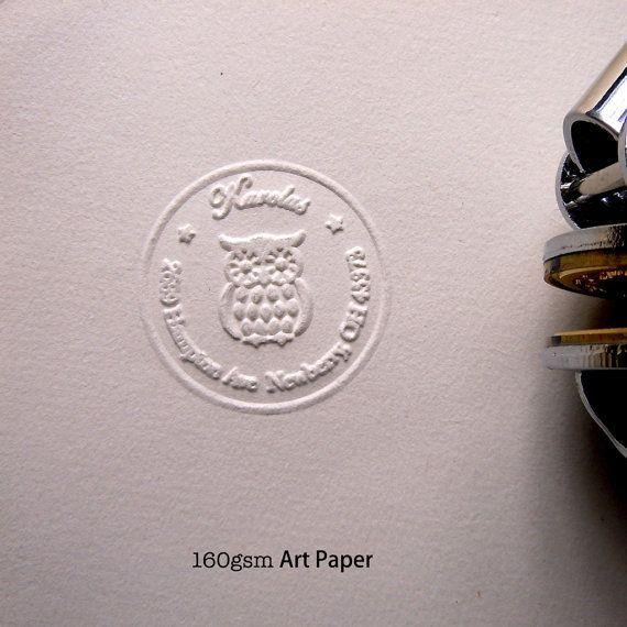 Custom Embossing Stamp Letter Press Stamp Portable by artcarf #letterpress #embossing