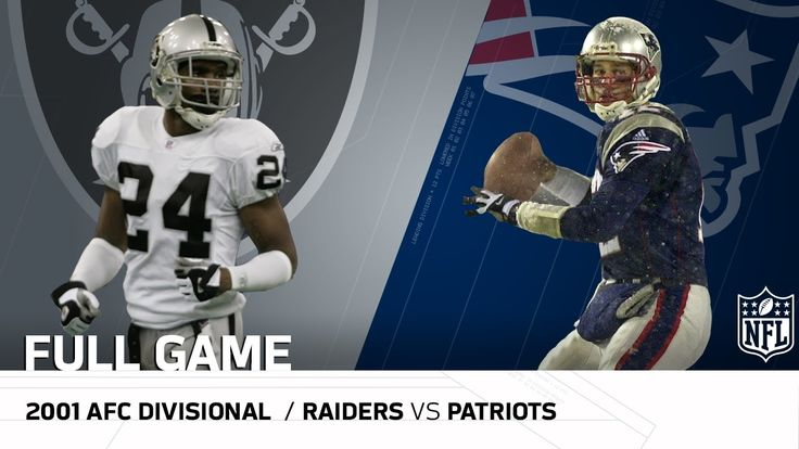 """2001 AFC Divisional Round: Raiders vs. Patriots   """"Tuck Rule Game""""   NFL..."""