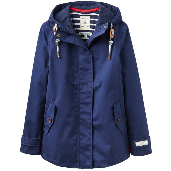 Joules Right as Rain Coast Waterproof Jacket (1.820 RUB) ❤ liked on Polyvore featuring outerwear, jackets, french navy, combat jacket, waterproof hooded jacket, short jacket, blue jackets and waterproof jacket