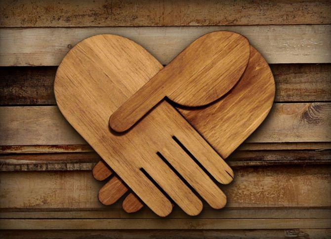 HELPING HANDS | Scott AlbrechtWood Art, L'Wren Scott, Typography Posters, Scott Albrecht, Wood Sculpture, Helpful Hands, Heart Hands, Typography Art, Holding Hands