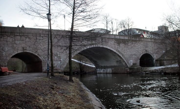Ankerbrua.  Anker Bridge in Oslo