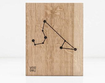Zodiac Constellation Wooden Picture - Leo (23.07 - 22.08)