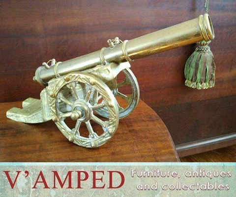 Get this beautiful Light Brigade Cannon available from #VampedFurniture. Visit us in-store or contact Rory on 076 983 4008 for more information. Delivery available nationwide on arrangement.