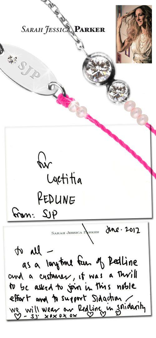 Sarah Jessica Parker collabore aux côtés de RedLine en créant son propre bijou !  Découvrez vite son interview sur Redline-blog !!