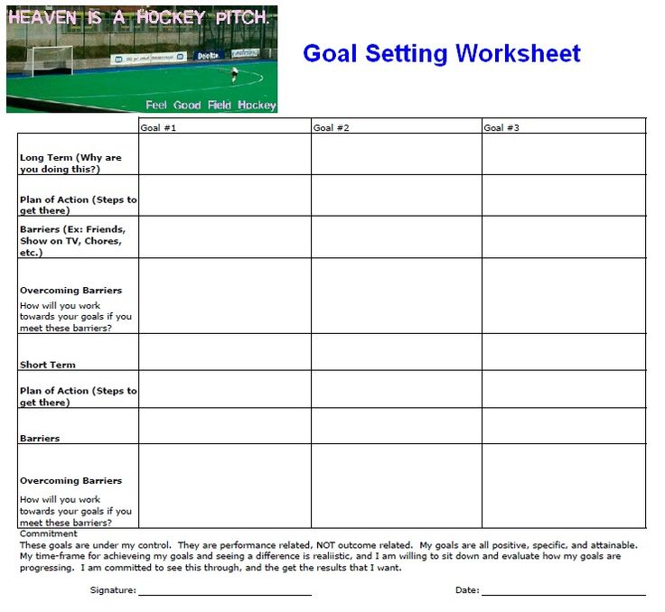 here 39 s my own goal setting worksheet that i use with my